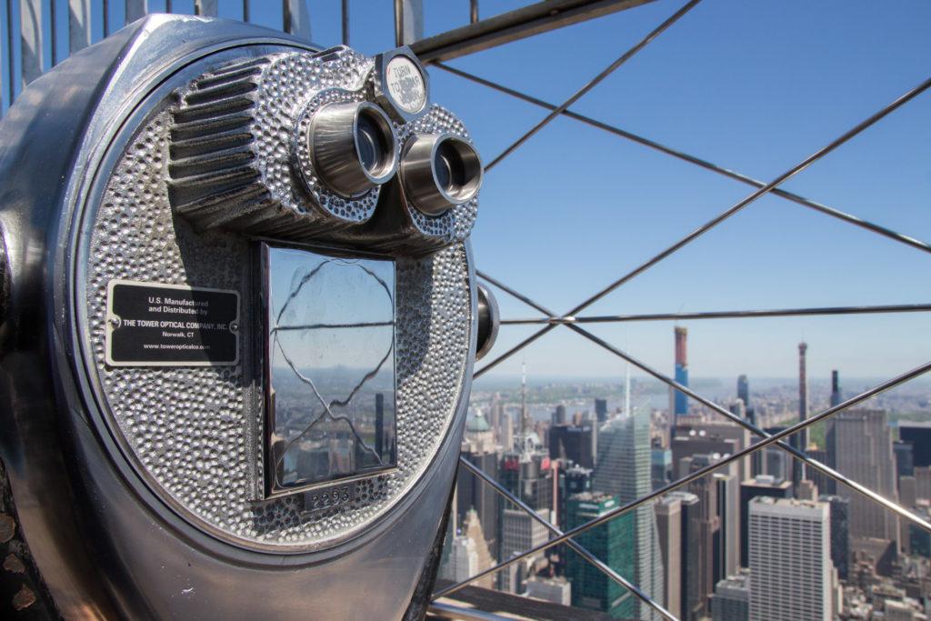 vue depuis le sommet de l'empire state building à new york