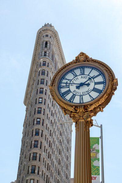 flatiron building et horloge cinquième avenue